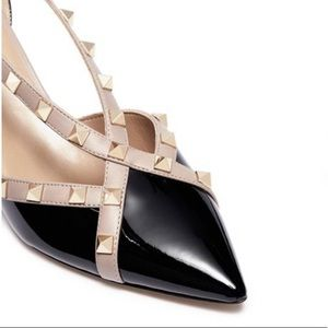 VALENTINO Rockstud d'OrsayPatent Leather Pump